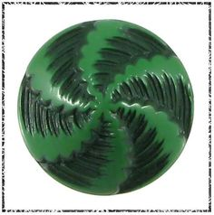 Vintage Painted & Buffed Button - 2-Tone Green Pinwheel in | eBay