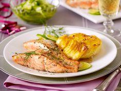 Dill-Lachs mit Kartoffel-Meerrettich-Gratin