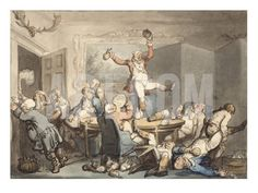 THE HUNT SUPPER by Thomas Rowlandson
