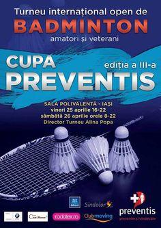 Cupa Preventis la badminton, 25-26 aprilie 2014