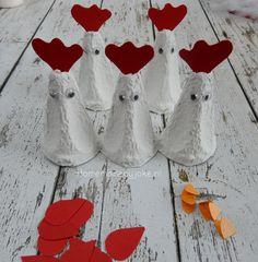Kippen van een eierdoos maken - Homemade by Joke Diy Home Crafts, Crafts For Kids, Paper Roll Crafts, Spring Art, Easter Crafts, Easter Decor, Easter Eggs, Upcycle, Barn
