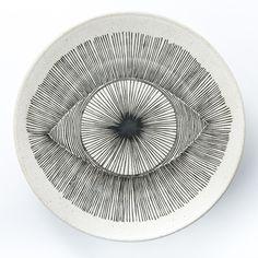 Large Hand Painted Eye Platter