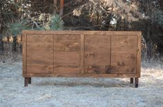 Rustic Cherry Console by curtisfurniture on Etsy, $950.00