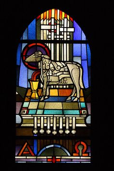 Heinrich Campendonk (1889 – 1957) Stained Glass Window.