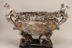 Wine Cistern by Charles Frederick Kandler, His rococo pieces of the and early were inspirational to later generations of silversmiths and his work is often compared to that of Paul de Lamerie and George Wickes. Catherine The Great, Bowls, Hermitage Museum, Rococo Style, Copper And Brass, Metropolitan Museum, Antique Silver, Wine, Sterling Silver
