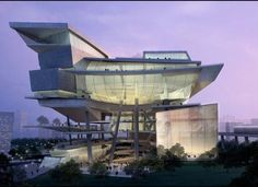 Designed by Aedas. Structural Design by Thornton Tomasetti.  Vista Xchange Integrated Civic and Cultural Hub, Singapore