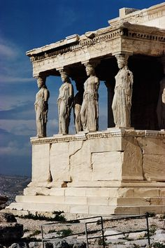 Classical: Greek 1. Columns used as outer walls. 2. Statues used as columns. 3. Cornice at the top of the statues.