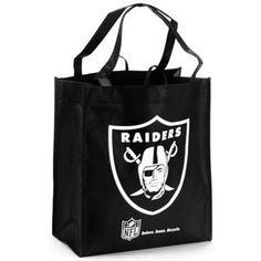 Oakland Raiders Black Reusable Tote Bag #FanaticsWishList @Fanatics ®