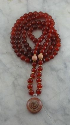 Mala beads for touch.