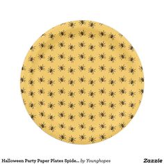 Halloween Party Paper Plates Spider Pattern