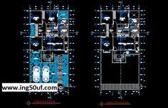 منازل منفصلة على مستويين خطط أوتوكاد dwg التصميم المعماري والخطط لسكن عائلي مكون من مستويين: مرآب يتسع لمركبتين بالدور الأول ، وغرفة معيشة ، وغرفة طعام ومطبخ ، ومدخل لمنطقة الخدمة المنفصلة ، ومنطقة خدمة ، وثلاث غرف نوم وحمامين ، والمستوى الثاني يكرر نفس كتلة التصميم من المستوى الأول. تحميل عل مديا فاير . المصدر : خرشات مهندس | www.ing50uf.com | أرجو عدم النقل من دون ذكر المصدر !