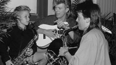 "Seth Scholes wanted to go the Bowie show so badly, he busked on the streets of Kingston with his saxophone to raise the cash. When the legendary musician got wind of the boy's efforts, he gave him backstage passes and played a bit of ""Young Americans"" with him."