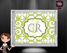 Custom Serving Tray, Personalized Lucite Tray, Monogrammed Acrylic Tray