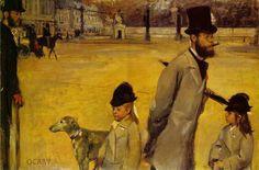 Viscount Lepic and his Daughters Crossing the Place de la Concorde - Edgar Degas