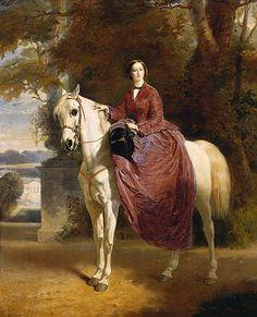 Charles Edouard Boutibonne(serie of double portraits with her husband Napoleon III.) _Empress Eugénie on horseback. before Jul on canvas × cm Royal Collection UK est. Equestrian Art, Art History, Animal Art, Art Gallery, Beautiful Art, Art, Horse Art, Artwork, Painting