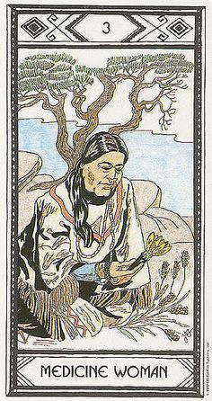 III. The Empress (Medicine Woman) - Native American Tarot by Magda Weck Gonzales