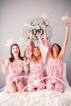 'Will You Be My Bridesmaid?' Slumber Party! www.theperfectpalette.com - Katherine Henry Boudoir, Making Me Events, Blush Paper Co.