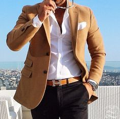 Interview / Business Attire. The best shirts are white, ivory, beige, tan, and powder blue. #menstyle