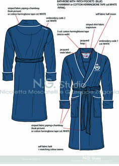 Men's  bathrobe - By N.G. di Nicoletta Moscatelli Giuseppe M. Zagonia