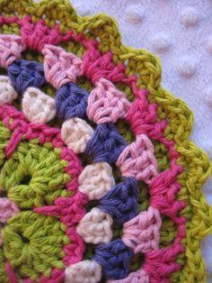 African Flower Crochet Potholder #LindsayLouCreations #crochet #potholder #africanflower #granny