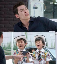 Another funny/cute scene in the #Heirs. Choi Young Do with the kids!