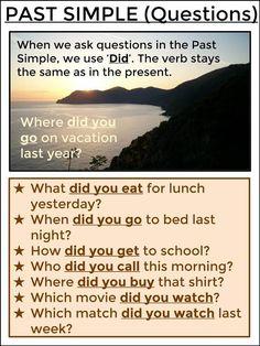 #tefl #tesol #grammar #learnenglish #esl #elt AskPaulEnglish: PAST SIMPLE Questions