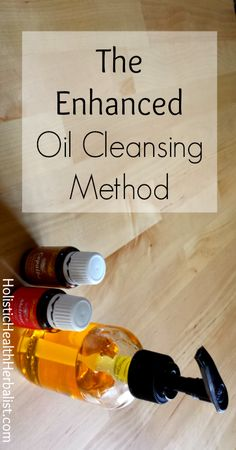 The enhanced oil cleansing method is a great way to fight aging, reduce acne, brighten skin tone, and even out the complexion. #beauty #acne #oilcleansingmethod #essentialoils