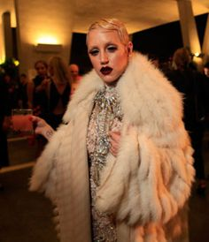 At Art Basel Miami, the West Coast rapper Brooke Candy brought her sartorial fearlessness to a Paper magazine party to celebrate the Kim Kardashian cover. The rapper's nod to the '20s is a reminder that holiday parties are all about piling on. (Photo: Elizabeth Lippman for The New York Times)