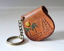 leather keychain coin holder - Google Search