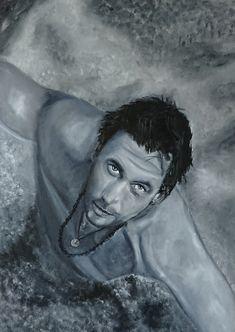 Olieverf portret 50 bij 70 Portrait, Tattoos, Painting, Art, Art Background, Tatuajes, Men Portrait, Painting Art, Tattoo