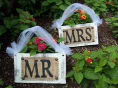 MR & MRS Cottage WEDDING signs Chair by SophiasSignBoutique, $30.00
