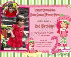 Strawberry Shortcake Invitation