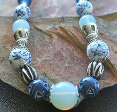 Delfts Blauwe Ketting van Madam Blue op DaWanda.com
