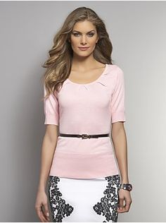 Radiating Pleat Sweater from New York & Company all colors.