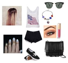 """""""USA"""" by maximo-barbie ❤ liked on Polyvore featuring Ray-Ban, Proenza Schouler, Vans, MAKE UP STORE and By Emily"""