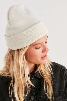 Slide View: 1: Double Knit Basic Beanie