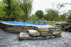 What Is Semi Inground Pool | ... the pool beautiful semi inground pools to prettify the exterior look
