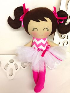 Rag Doll Handmade Doll Ballerina Doll Cloth by SewManyPretties, $45.00 #ballerinadoll #balletgift #balletgirl