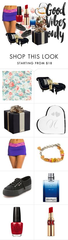 """""""Let's Get Together"""" by utitito on Polyvore featuring SANDERSON, Universal Lighting and Decor, Kate Spade, Cathy's Concepts, TYR, Venessa Arizaga, Superga, Salvatore Ferragamo, OPI and Yves Saint Laurent"""