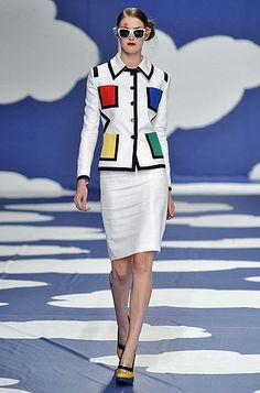 ! la dulcie vita: art as fashion - yves saint laurent, jean-charles de castelbajac and sarah schofield do piet mondrian