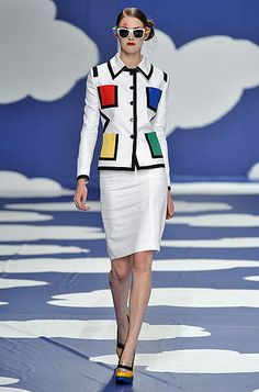 Jean Charles de Castelbajac Mondrian jacket featured in La Roux's 2009 video for Bulletproof