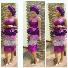 Top Ten Unique Aso Ebi Styles With Cord Lace Design | Dabonke