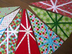 4. First Christmas Tree Skirt wedges   Flickr - Photo Sharing!