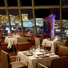 Alize. West of the Strip (Palms) Dinner with a view $$$$$ http://alizelv.com/alize-tasting-menu/