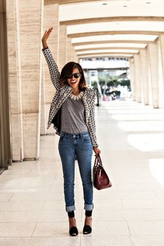 NYFW - the tweed blazer http://www.grasiemercedes.com/style-me-wears/nyfw-the-tweed-blazer/