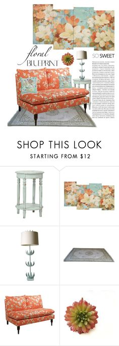 """""""Floral Home"""" by alynncameron ❤ liked on Polyvore featuring interior, interiors, interior design, home, home decor and interior decorating"""