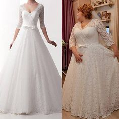 Here's an example of a plus size wedding dress replica that is very close to the original.  We can produce custom wedding gowns & replica wedding dresses for a fraction of the original cost.  For more info on custom plus size wedding dresses you can afford or to get pricing on your favorite or popular couture wedding gown to see how much you can save with a replica please email us from our main website at www.dariuscordell.com