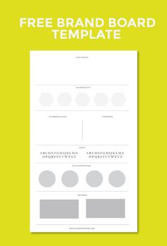 Free Brand Board Template                                                                                                                                                      More