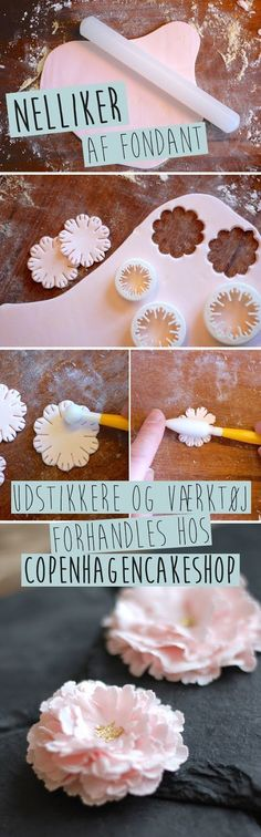 Amazing and useful Flowers Tutorial - Cake Decorations / Fondant decor / Polymer Clay and Fimo Icing Flowers, Gum Paste Flowers, Fondant Flowers, Sugar Flowers, Cake Flowers, Edible Flowers, Fondant Icing, Fondant Toppers, Fondant Cakes
