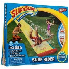 Wham-o Slip N Slide Wave Rider 16'-Toy - www.Gifteee.com - Cool Gifts Unique Gifts - The Best Gifts for Men, Women and Kids of All Ages Water Slides Backyard, Cool Water Slides, Blow Up Water Slide, Kids Water Slide, Backyard Toys, Best Slip And Slide, Slip N Slide, Unique Gifts For Boys, Summer Activities For Kids